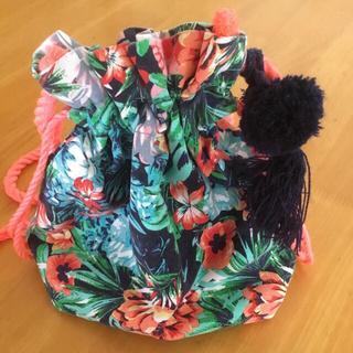 ザラキッズ(ZARA KIDS)の花柄巾着バッグ(ショルダーバッグ)
