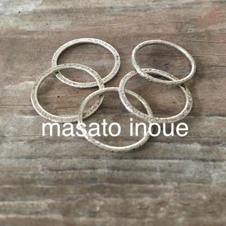 ビームス(BEAMS)のmasato inoue 5連silverリング  #9(リング(指輪))