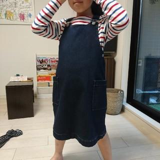 ジーユー(GU)のGU サロペットスカート 130 女の子 デニム(スカート)