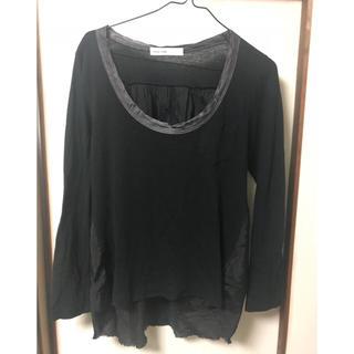 サカイラック(sacai luck)の sacai luck  長袖 カットソー Tシャツ ブラック(カットソー(長袖/七分))