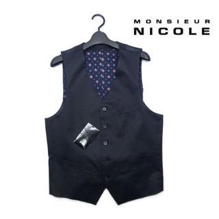ムッシュニコル(MONSIEUR NICOLE)の新品 MONSIEUR NICOLE ニコル ベスト ジレ  黒 M(スーツベスト)