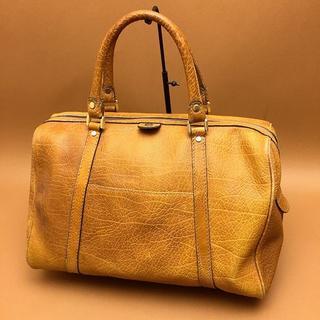 ゴールドファイル(GOLD PFEIL)の○ゴールドファイル レザー ボストンバッグ 茶ブラウン C15(ボストンバッグ)