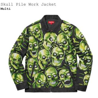 シュプリーム(Supreme)のシュプリーム ワークジャケット M skull pile work jacket(ブルゾン)