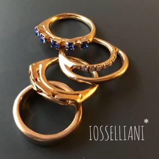 イオッセリアーニ(IOSSELLIANI)の【ほぼ未使用】イオッセリアーニ4連リング(リング(指輪))
