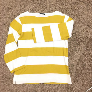 ハレ(HARE)のハレ★マスタードイエロー×白ボーダーカットソー(Tシャツ/カットソー(七分/長袖))