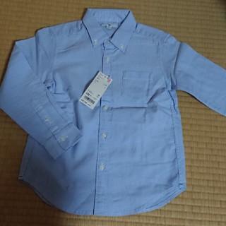 ユニクロ(UNIQLO)のUNIQLO  新品 ブルーワイシャツ☆(ドレス/フォーマル)