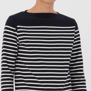ムジルシリョウヒン(MUJI (無印良品))の無印良品 メンズ ボーダー 長袖Tシャツ(Tシャツ/カットソー(七分/長袖))
