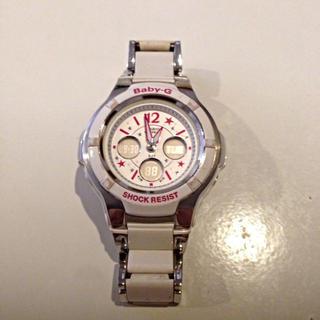 ベビージー(Baby-G)のBaby-G ホワイト×ピンク(腕時計)