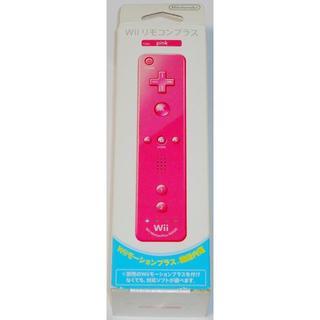 ニンテンドウ(任天堂)の新品 Wii リモコンプラス ピンク ジャケット・ストラップ付 純正 外箱付(その他)