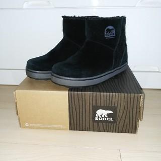 ソレル(SOREL)のSOREL Glacy Short 23cm ブラック(ブーツ)
