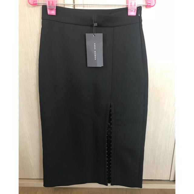 41ad60730918a3 ZARA - 新品♪Zaraザラ♪スリット入りスカート黒XSの通販 by チャボ shop ...