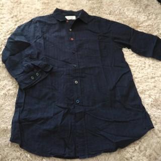 ブラウニー(BROWNY)のBROWNYネイビー七部袖シャツ M(Tシャツ/カットソー(七分/長袖))
