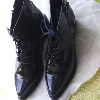 スタイルナンダ(STYLENANDA)のAichero様専用 エナメルレースアップブーツ(ブーツ)