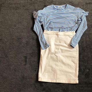 デミルクスビームス(Demi-Luxe BEAMS)のDemi-Luxe BEAMS白タイトスカート(ひざ丈スカート)
