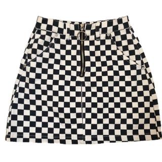 ユニフ(UNIF)のUNIF apex skirt ブロックチェック スカート タイト(ミニスカート)