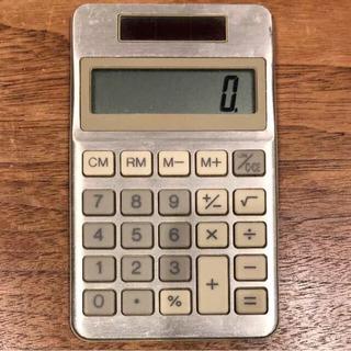 ムジルシリョウヒン(MUJI (無印良品))の無印良品 電卓 計算機 シルバー+伊達メガネ(その他)
