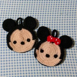 Disney - ミッキー&ミニー アクリルたわし