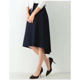 デミルクスビームス(Demi-Luxe BEAMS)の未使用☆デミルクス・バックフレアAラインスカート・ネイビー(ひざ丈スカート)