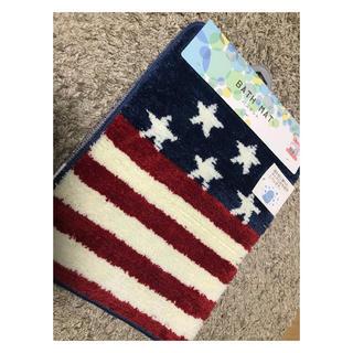 シマムラ(しまむら)の国旗柄 バスマット アメリカン 新品 しまむら(バスマット)