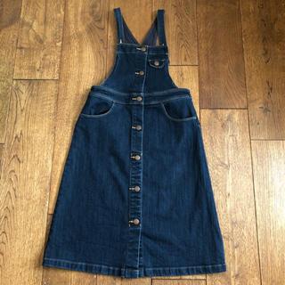 ジーユー(GU)のGU デニムサロペットスカート 140サイズ(スカート)
