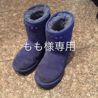 アグ(UGG)のUGG ブルー ムートンブーツ 20cm(ブーツ)