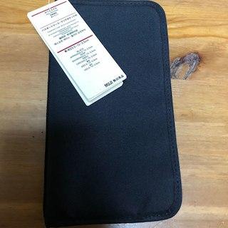 ムジルシリョウヒン(MUJI (無印良品))のブラック 無印良品 パスポートケース(名刺入れ/定期入れ)