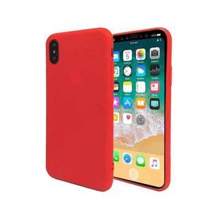 iPhoneX ケース TPUケース ストラップホール ソフトケース レッド(iPhoneケース)