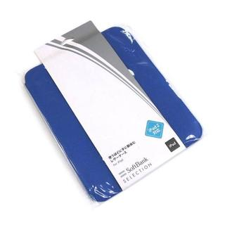 iPad 9.7 インチ用 レザーケース 牛革 ブルー SoftBank(iPadケース)
