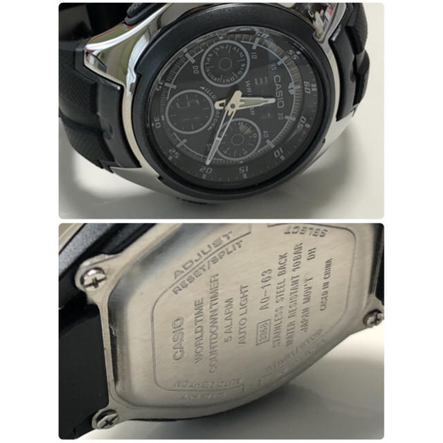 01284ee416 CASIO - カシオ CASIO 腕時計 STANDARD AQ-163W-1B1JFの通販 by ...