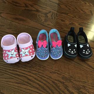 クロックス(crocs)の13センチ キッズ 女の子 靴セット クロックス スケッチャーズ スリッポン (スニーカー)
