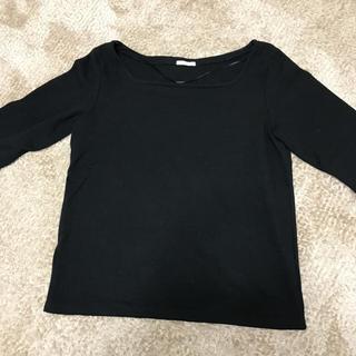 ジーユー(GU)のワッフルスクエアネックT(Tシャツ(長袖/七分))