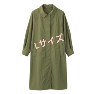 ジーユー(GU)の新品 ステンカラーロングコート 完売 GU カーキ ステンカラーコート(ステンカラーコート)