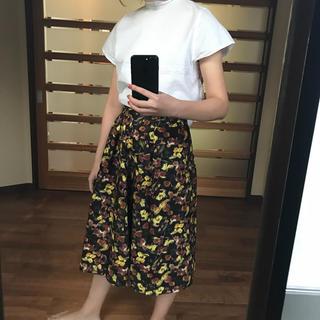 ダブルクローゼット(w closet)のw closet ロングスカート 花柄 (ロングスカート)