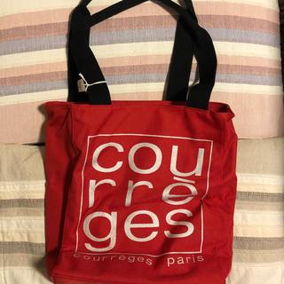 クレージュ(Courreges)の【未使用タグ有り】クレージュ ナイロン トートバッグ レッド(トートバッグ)