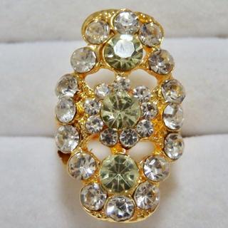 即購入OK*調節可能フリーサイズリングゴージャス指輪大きいサイズ(リング(指輪))