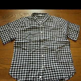 ジーユー(GU)のGU*半袖ギンガムチェックシャツ(シャツ/ブラウス(半袖/袖なし))
