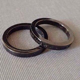 ジャムホームメイドアンドレディメイド(JAM HOME MADE & ready made)の『メンズ リング ブラック JAMHOMEMADE 指輪 アクセサリー 2本(リング(指輪))