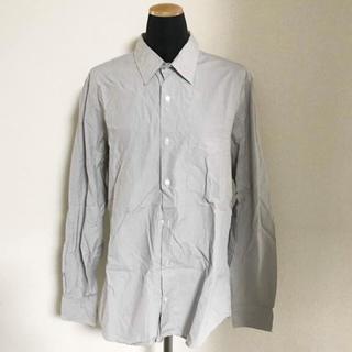 ムジルシリョウヒン(MUJI (無印良品))の新品未使用 無印良品 グレー 細ストライプ シャツ(シャツ)