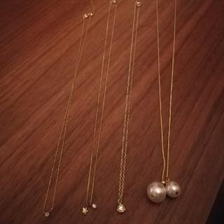 スリーフォータイム(ThreeFourTime)のネックレス+ハートヘアゴム+ゴールドブレスレット(ネックレス)