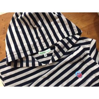 ビームス(BEAMS)のBEAMS mini ボーダーロングTシャツ (ネイビー)(Tシャツ/カットソー)