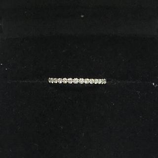 エタニティピンキーリング K18 ダイヤ 0.2ct 新品(リング(指輪))