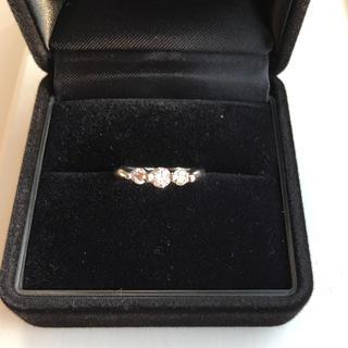 プラチナ ダイヤモンド ピンキーリング(リング(指輪))