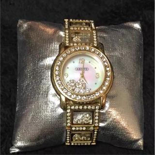 アビステ(ABISTE)のABISTE 電池入り!ラインストーンがキラキラの腕時計 美品です!(腕時計)
