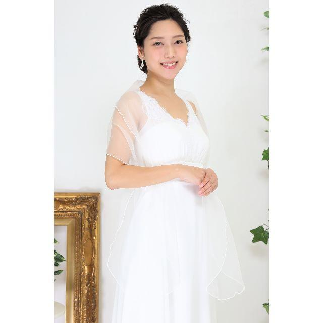 【新品*日本製】ショール&コサージュセット♡オフホワイト*ウェディング レディースのフォーマル/ドレス(ウェディングドレス)の商品写真