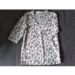 レオパード トップス 日本製(カットソー(半袖/袖なし))