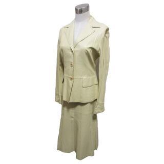 ボールジィ(Ballsey)のボールジィ セットアップ ジャケット スカート レザー クリーム サイズ38(スーツ)