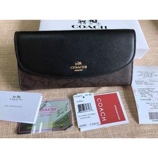 952e7b1c1fec COACH - コーチ COACH ファッション ボタン開閉式 長財布 F54022 ブラックの通販 by 蔵黒's shop|コーチならラクマ