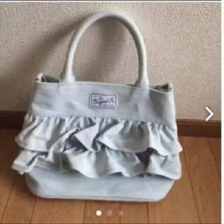 シマムラ(しまむら)の新品 デニムフリルバッグ(トートバッグ)