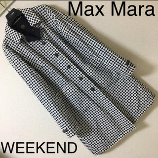 マックスマーラ(Max Mara)の◆良品◆マックスマーラ ウィークエンド◆リバーシブル ステンカラー コート 44(トレンチコート)
