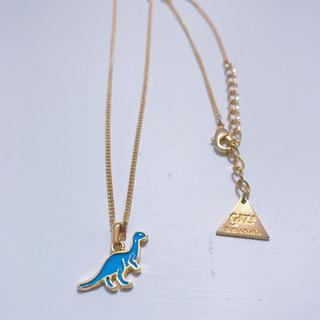 ギザ(GIZA)のGIZA 恐竜 NaNa NaNa / ネックレス 青(ネックレス)
